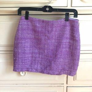 Purple mini tweed alice and Olivia skirt